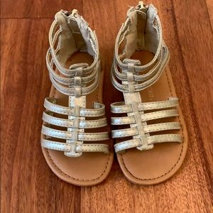 Cherokee Gold Sandals girls size 7C